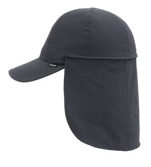 Technical packable sun cap