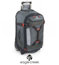Rugged 59L litre wheeled luggage.