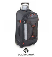 Rugged 67L litre wheeled luggage.