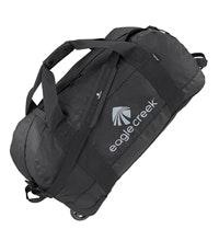 Rugged 105 litre rolling kit bag.