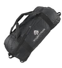 Rugged 128 litre rolling kit bag.