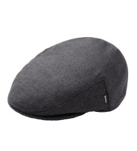 Machine washable, warm lined fleece flat cap.