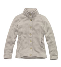 Technical fleece cardigan