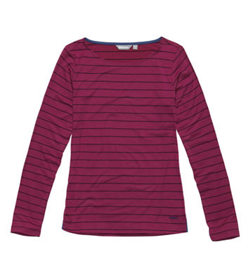 Women's Stria Top - Amaranth/Carbon
