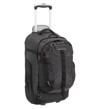 Rugged large capacity wheeled luggage.