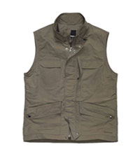 Multi-pocketed travel vest.