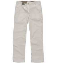 Technical linen trousers.