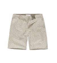 Technical linen shorts.