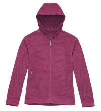Technical hooded fleece jacket.