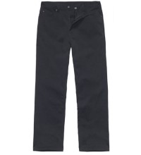 Technical, winter-weight canvas jeans.
