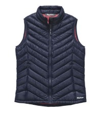 Technical down vest designed for town use.