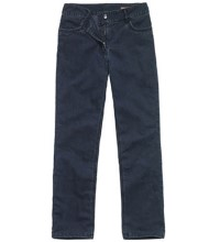 Technical, winter-weight jeans.
