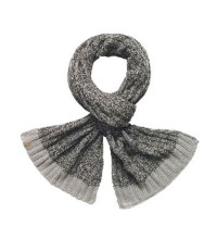 Warm knitted fleece scarf.