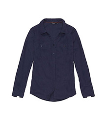 Relaxed, warm-weather travel shirt.