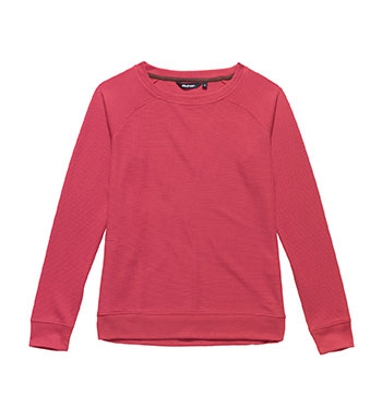 Lightweight, waffle effect, crew-neck sweater.