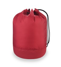 Durable, lightweight drawstring bag.