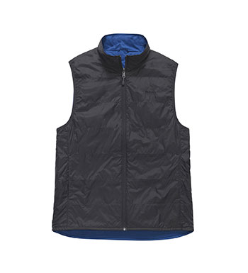 Featherweight insulated vest for comfort and practicality.