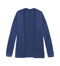 Luxuriously soft 100% extrafine merino cardi.